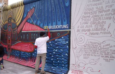La East Side Gallery en phase de restauration