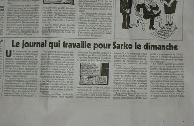 SOCIAL/TRAVAIL DOMINICAL/ARTICLE CANARD ENCHAINE : Sondage et sons de cloches