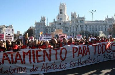 High priced hepatitis C treatments spark massive public outcry and political debate in Spain