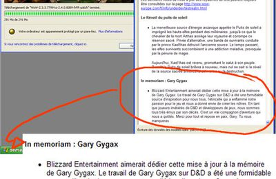 L'hommage discret de Blizzard (World of Warcraft) à Gary Gygax