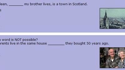 A quizz by the BBC (relative clauses)
