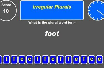 Irregular plurals (a game called speedword !)