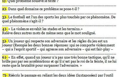 correction des exercices de livre de francais 1am