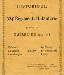 Historique du 324e régiment d'infanterie (partie 1 : 1914-1916)