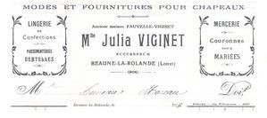 Julia Lucile Victorine VIGINE (ou VIGINET)
