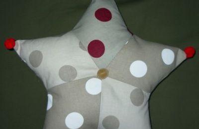 Etoile Noël en tissu