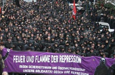 Allemagne : Black Block énorme, samedi 15/12/07