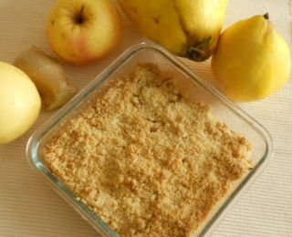 crumble coing-pomme-gingembre