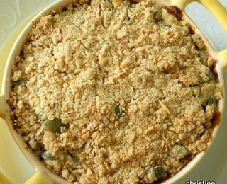 Crumble butternut-patate douce