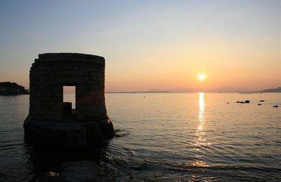 Coucher de soleil à La Garoupe (Antibes)