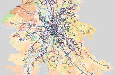 La carte du réseau Tisséo à l'échelle de l'agglo