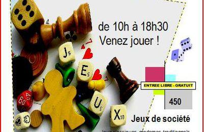 7è Festival des Jeux dimanche 15 mars à Aillant sur Tholon 89