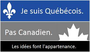 Je refuse d'être Canadien