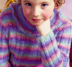 PULL RAYE Tailles 2-4-6-8-10 ans