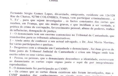 """Tenho um grande combate em Lisboa contra o que éra o chef da da mafia de Cantanhede o """"meia tinta"""" é o Procurador Adjunto da Républica, Dr Nuno Salgado."""