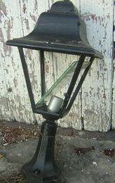 Lanterne d'extérieur : transformée en lampe d'intérieur !