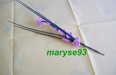 branche de cerisier au crochet et perles
