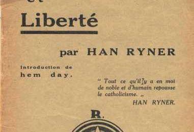 """Ecoutez Han Ryner ! (conférence """"Cléricalisme et liberté"""")"""