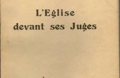 "Introduction de ""L'Eglise devant ses juges"", par Han Ryner"
