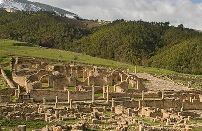 Djemila, grands thermes.