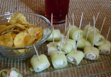 Petits rouleaux de Concombre - Chips Plantain