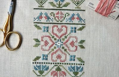 Hearts & Flowers Spring Sampler...Fin