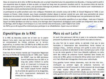 La lettre du Boundou n°8 - Avril à Juin 2011