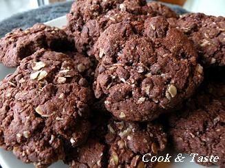 Cookies # 3 : double chocolat et flocons d'avoine sans gluten