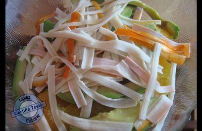 Salade d'orange à l'orientale et poulet au paprika
