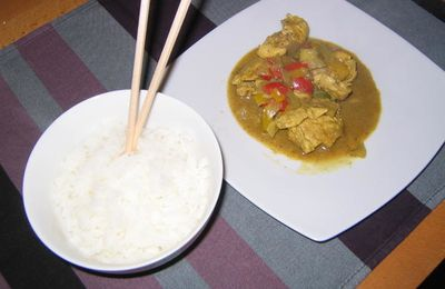 Curry de Poulet tellement bon...