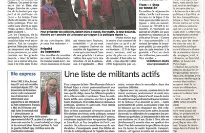 "La liste ""Nice l'Humain d'abord"" dans Nice-Matin. (Clic droit)"