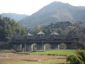 Le très célèbre pont du vent et de la pluie de Chengyang