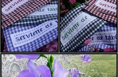Pochettes serviettes de table vichy