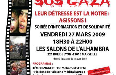 Soirée : SOS Gaza