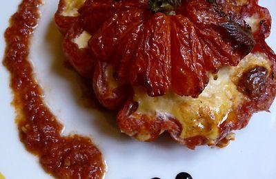 Tomates Cœur de bœuf à la brousse poulette