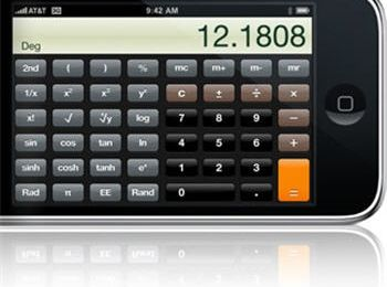 IPhone et calculatrice scientifique