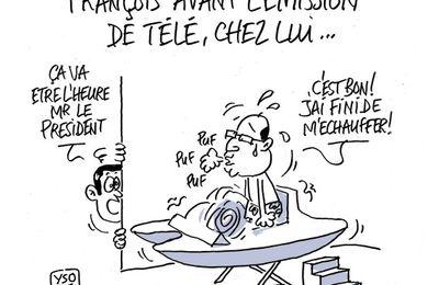 François Hollande, ce soir, à la télévision...