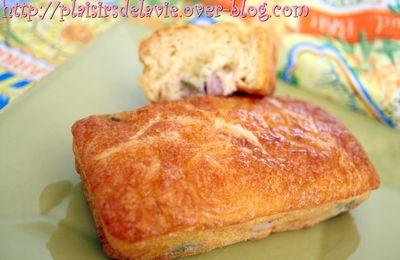 Minis cakes gourmands aux olives et au jambon