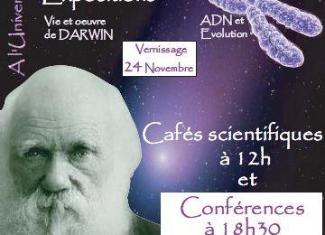 Exposition Darwin à La bibliotheque Universitaire du Mans