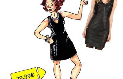 La petite robe en cuire...