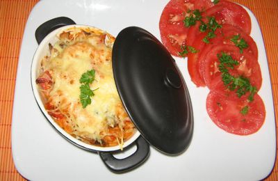 mini cocotte surprise a la sauce aurore