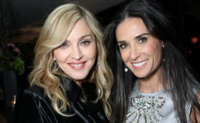 Madonna and Demi Moore at the CAA pre-Golden Globes party