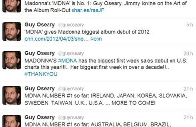 Madonna's MDNA album No 1 in the World