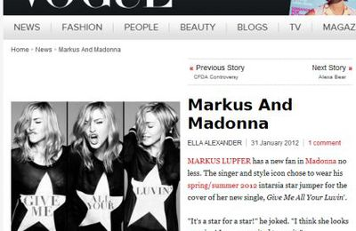 Madonna chooses Markus Lupfer for GMAYL single cover