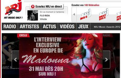 Interview with Madonna on French NRJ radio on May 31, 2012