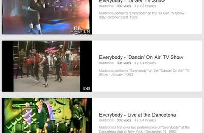 3 ''Everybody'' videos added on The Official Madonna YouTube Channel
