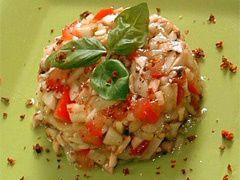 Tartare de tomates aux crevettes ...