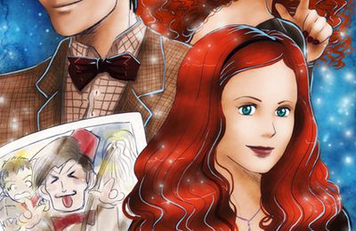 Fanart Doctor Who : Eleven and Co ! ^_^ + Steven Moffat au Comic con' Paris !