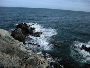 Le Cap Bear, la mer en février