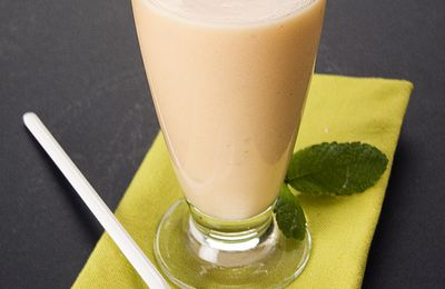 Smoothie melon/lait d'amande